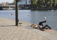 斯德哥尔摩10月星期日 免版税库存图片
