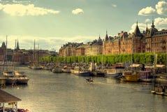 斯德哥尔摩strandv 免版税图库摄影