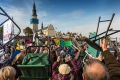琴斯托霍瓦,波兰- 2016年10月15日:团结的补偿,全da 免版税库存图片