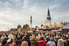 琴斯托霍瓦,波兰- 2016年10月15日:团结的补偿,全da 免版税库存照片