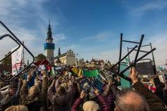 琴斯托霍瓦,波兰- 2016年10月15日:团结的补偿,全da 免版税图库摄影