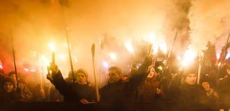 斯捷潘・班杰拉109th诞生周年在Kyiv 图库摄影