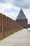 斯摩棱斯克堡垒墙壁的Avramievskie门 免版税库存照片