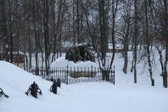 斯摩棱斯克枪,从战争的人工制品1812 免版税库存照片