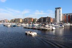 斯旺西小游艇船坞,威尔士,英国 库存图片