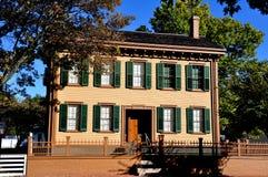 斯普林菲尔德,伊利诺伊:亚伯拉罕・林肯的家 免版税图库摄影