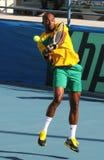 戴维斯杯在塞浦路斯和贝宁之间的网球赛 库存照片