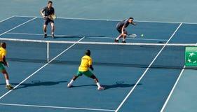 戴维斯杯网球赛,反对贝宁的塞浦路斯 免版税图库摄影