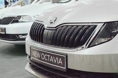 斯柯达新的奥克塔维娅汽车 图库摄影