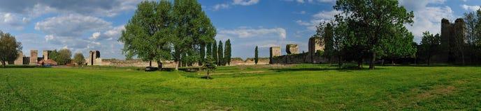 斯梅代雷沃堡垒,塞尔维亚全景  免版税图库摄影
