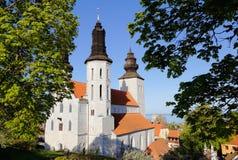 维斯比大教堂瑞典 库存照片