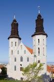 维斯比大教堂瑞典 免版税库存照片
