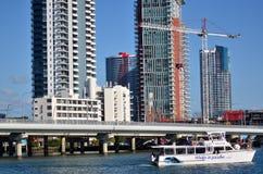 绍斯波特地平线-英属黄金海岸昆士兰澳大利亚 免版税库存图片
