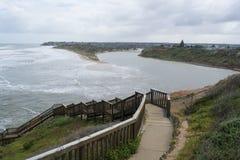 绍斯波特海滩,在风暴和洪水, Fleurieu半岛后, 库存照片