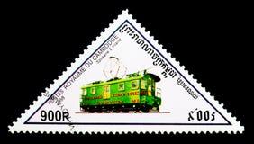 斯波肯和内地,机车serie,大约1998年 免版税库存图片