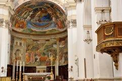 斯波莱托圣玛丽亚Assunta大教堂 库存照片