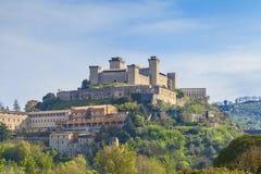 斯波莱托城堡 免版税库存照片