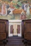 斯波莱托大教堂的内部 库存图片