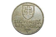 10斯洛伐克克朗硬币 库存图片
