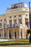 斯洛伐克国家戏院的历史大厦在布拉索夫 免版税库存照片