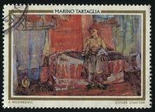 斯洛伐克妇女Marino Tartagilja 库存照片