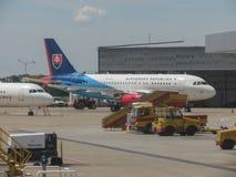 斯洛伐克政府飞行服务空中客车A319-115 免版税库存图片