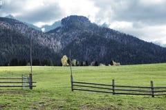 斯洛伐克的农村土地 免版税图库摄影