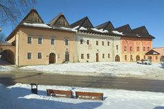 斯洛伐克逗人喜爱的地点 免版税库存照片