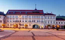 斯洛伐克, Banska Bystrica主要SNP正方形 库存照片