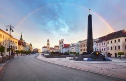 斯洛伐克, Banska Bystrica主要SNP正方形 免版税库存照片
