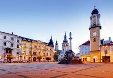 斯洛伐克, Banska Bystrica主要SNP正方形 库存图片