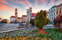 斯洛伐克, Banska Bystrica主要SNP正方形 免版税库存图片
