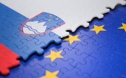 斯洛文尼亚欧盟难题旗子 皇族释放例证