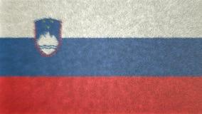 斯洛文尼亚的旗子的原始的3D图象 库存例证