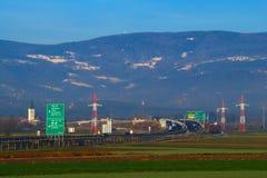 斯洛文尼亚高速公路 免版税库存照片