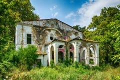斯派塞家庭一个被放弃的豪宅  免版税库存照片