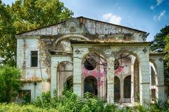 斯派塞家庭一个被放弃的豪宅  免版税图库摄影