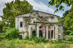 斯派塞家庭一个被放弃的豪宅  图库摄影