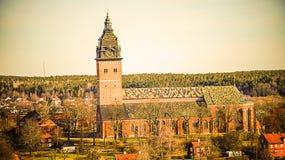 斯特兰奈斯大教堂-一个大教堂教会在斯特兰奈斯,瑞典 图库摄影