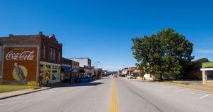 斯特劳德的美好的市中心-一个小镇在俄克拉何马-斯特劳德-俄克拉何马- 2017年10月16日 免版税库存图片