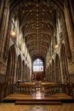 彻斯特大教堂内部,英国 免版税库存图片