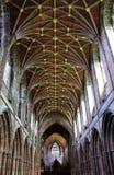 彻斯特大教堂装饰天花板 库存图片