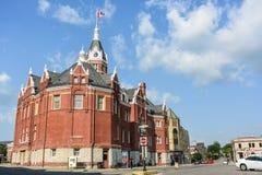 斯特拉福镇的老市政厅  库存图片