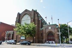 斯特拉福镇的老市政厅  免版税图库摄影