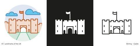 斯特灵城堡 向量例证