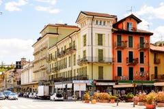 斯特雷萨,意大利建筑学  免版税库存图片