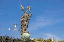 斯特鲁米察,马其顿-狂欢节纪念碑 免版税库存图片