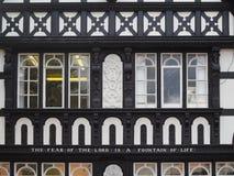 彻斯特CHESHIRE/UK - 9月16日:在大厦的引文 免版税库存图片
