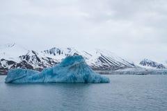 斯瓦尔巴特群岛冰川 免版税库存图片