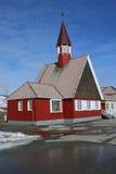 斯瓦尔巴特群岛教会 库存图片